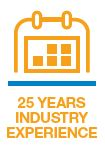 25 Years of Industry Experience