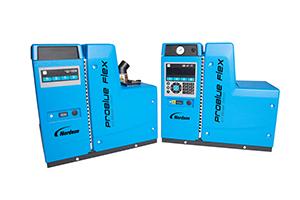 Smeltelimudstyr med let tilgængelige komponenter og tank, samt let anvendelig display for operatør