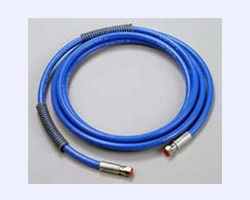 Liquid adhesive hoses transport cold adhesive from pumps and containers