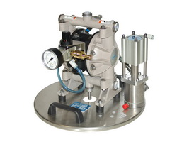 Piston and diaphragm low or high pressure pumps deliver cold adhesives