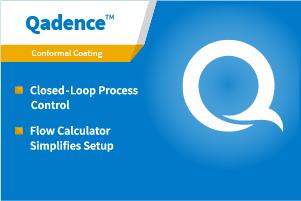 新的Qadence™闭环流量控制系统对高质量涂层的体积保持稳定的流速。