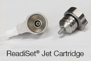 Reduce cleaning time with the ReadiSet? Jet Cartridge. Available for the IntelliJet? Jetting System and the NexJet? Jetting System.