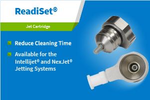 使用Readiset®喷射墨盒减少清洁时间。可用于Intellijet®喷射系统和Nexjet®喷射系统。