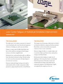 Low Cycle Fatigue Soldered Joint