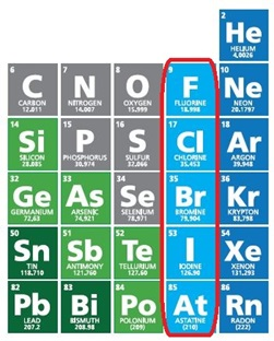 Snip it of the Periodic Table