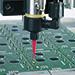 752V Valve dispensing onto a PCB