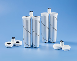 The sustainable Film-Pak® dual cartridge from Nordson EFD is an eco-friendly option for packaging and dispensing industrial two-component fluids.