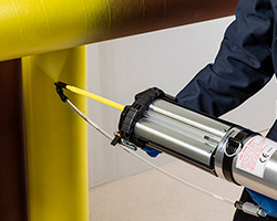 Pipe coating with an HSS Spray System