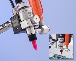 Austauschbares xQR41-Ventil mit Schnellverschlussmechanismus für den Mikropunktauftrag