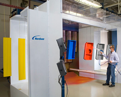Lean Cell Powder Coating Spray Booth